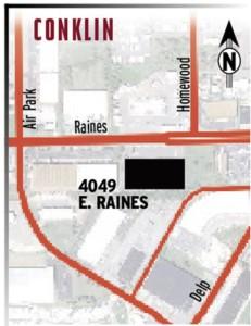 4049 E. Raines map